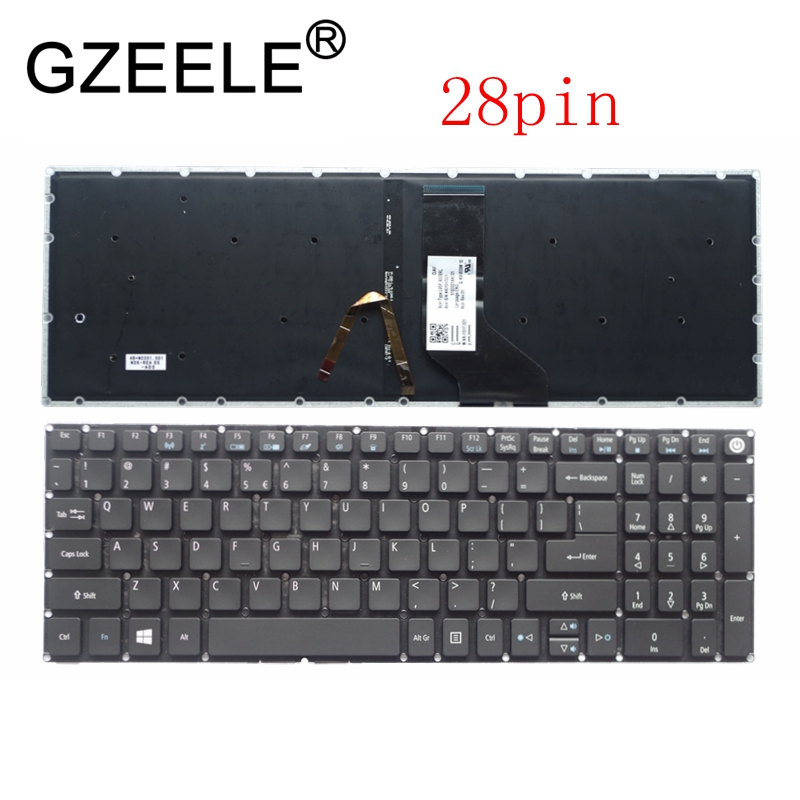 US New For Acer Aspire 5 A515-51 A515-51G A517 A517-51-5832 A517-51G A517-51G-52LB English Keyboard Backlit Backlight 28 Pin
