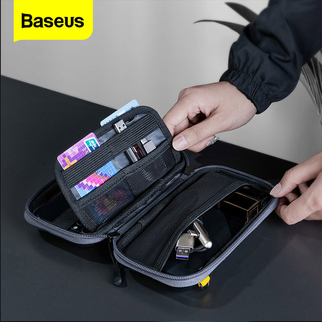 Baseus phone pouch for iphone 11 pro xs max xr x 8 7 삼성 xiaomi huawei p30 pro 휴대용 휴대 전화 가방 케이스 보관 커버