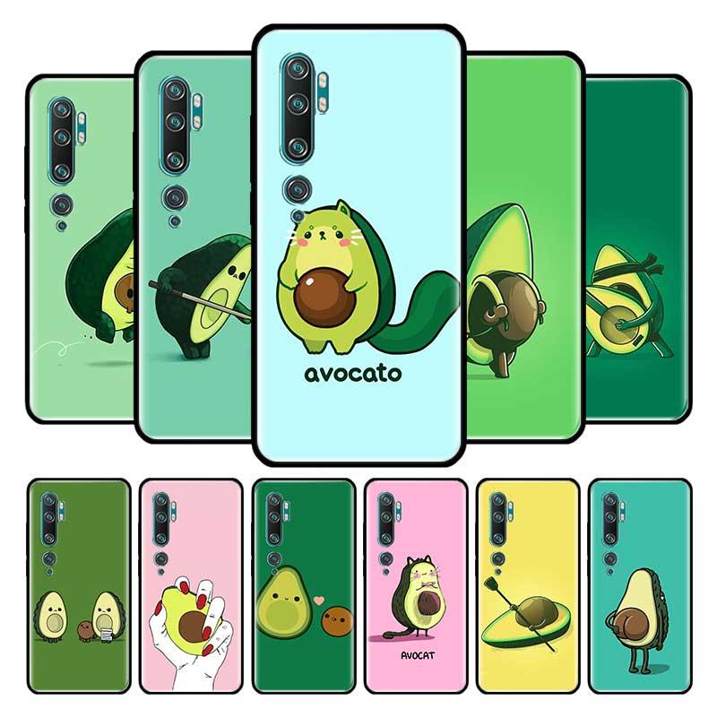 Funda con diseño de aguacate para Xiaomi, funda trasera para teléfono móvil Xiaomi MI 8 9 SE 9T Pro Note 10 Lite Poco X3 NFC X2 A1 A2 F1