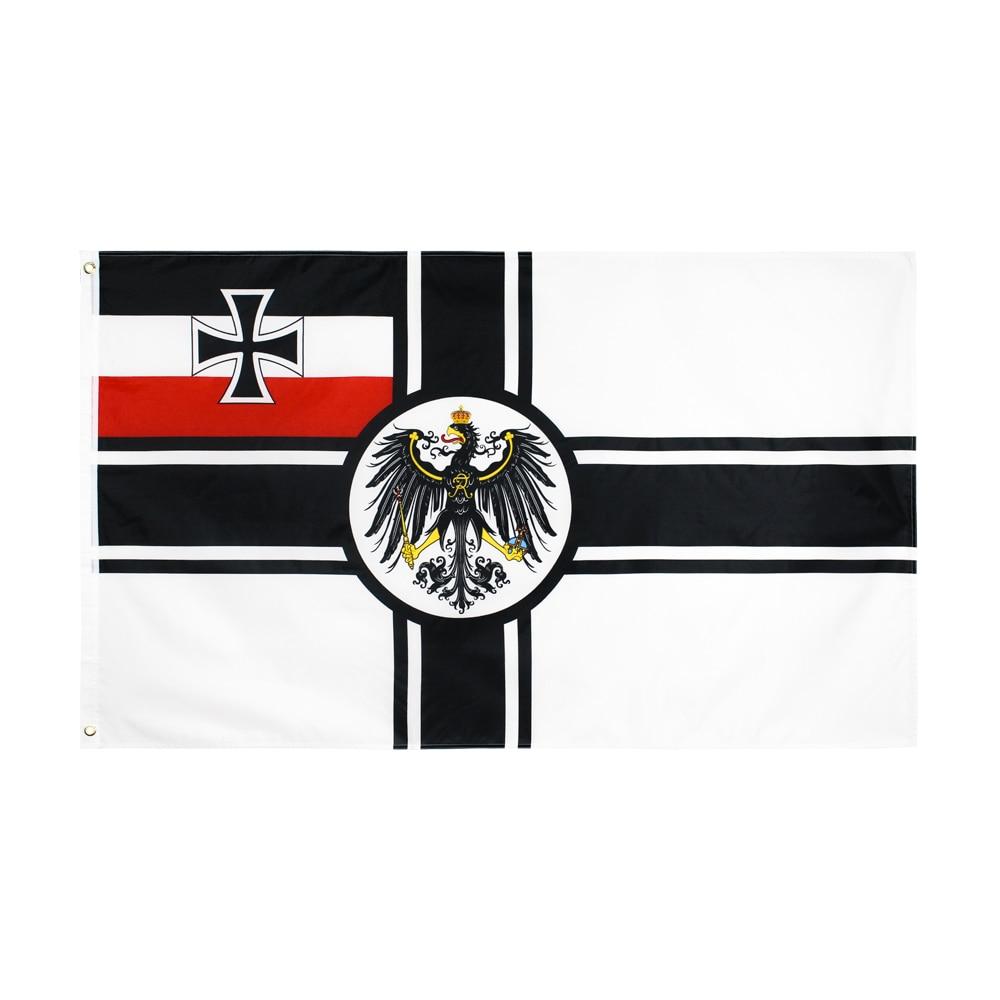 WN 60x90 90X150cm German Empire DK Reich War Flag For Decoration