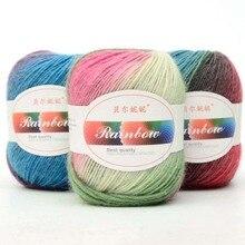 Sweater Yarn-Thread Chunky Crochet Skein Knit Wool Multi-Coloured Soft Babycare 50g 10-Balls