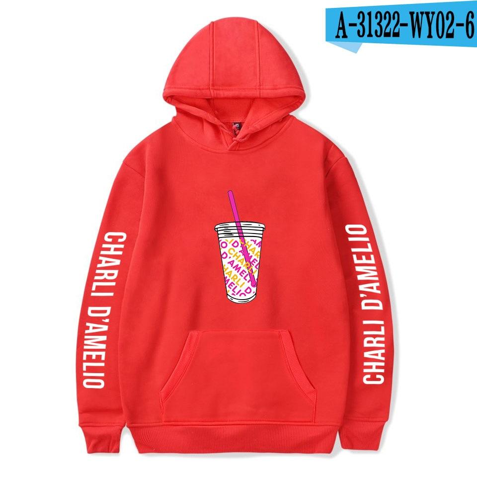 Charli Damelio Merch Print Ice Coffee Splatter Hoodie Women Men Sweatshirt Harajuku Hoodies Long Sleeve Tracksuit Pullover Womam 7