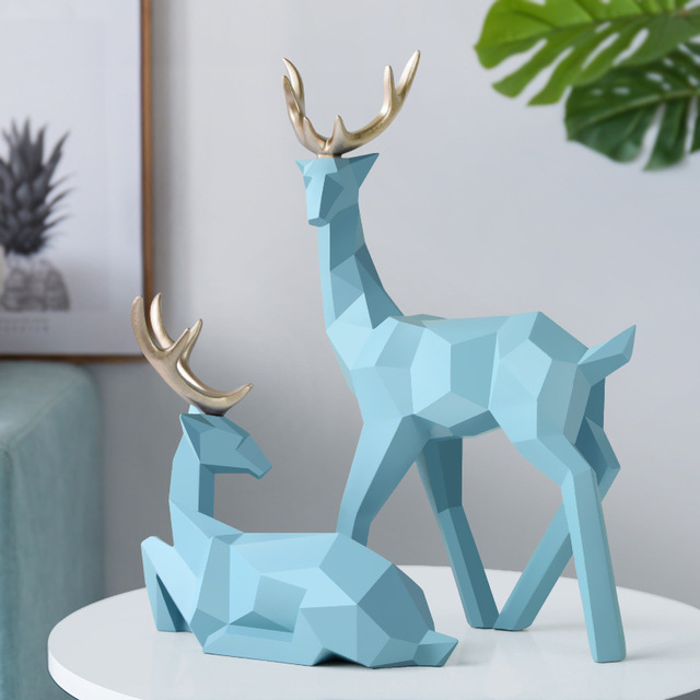 Geometric Deer Sculpture for Home Decoration