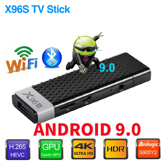 TV Stick X96S TV Box Android 9.0 DDR4 4GB 32GB Amlogic S905Y2 2.4/5G double WIFI BT4.2 4K HD Smart Android TV Box PK H96 X96 MAX