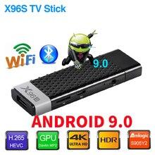 TV Stick X96S TV, pudełko z systemem Android 9.0 DDR4 4GB 32GB procesor Amlogic S905Y2 2.4/5G Dual WIFI BT4.2 4K HD inteligentny telewizor z androidem TV, pudełko PK H96 X96 MAX