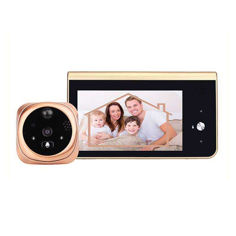 4.3 Inch Wireless Peephole Security Doorbell 720P Video Visual Intercom Night-Vision Pir Smart Wifi Doorbell