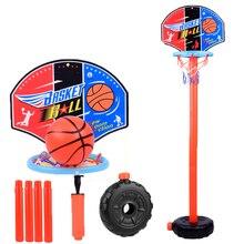 Детский баскетбольный игровой набор, регулируемая подставка, держатель для корзины, обруч, игра для гол, мини-игры в помещении для мальчиков...