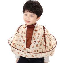 Apron Catcher Hair Cutting Cape Wraps Umbrella Waterproof 1pc Bread-Pattern Polyester