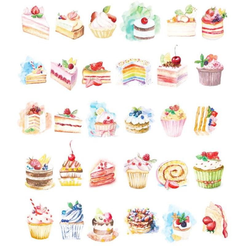 30pcs/lot Birthday Cake design postcards greeting card christmas card birthday card creative gift cards H021