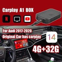 Carplay caja Ai para Apple TV Android sistema de Video del coche reproductor Multimedia Android Mirrorlink para Benz Audi Tv para coche caja de 2 + 32G
