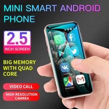 SOYES XS11 Mini Android 6.0 Smartphone 3D di Vetro Corpo Sottile 1GB 8GB Quad Core 1000mAh Cellulare Con google Play Mercato