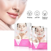 цена на Small V-shaped Face Mask Moisturizing Skin Firming Lifting Face Slimming Face Mask Chin Mask