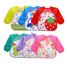 Children Apron Feeding-Smock Long-Sleeve Waterproof Bibs Cartoon 1PC EVA