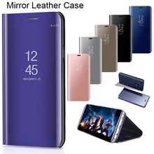 Smart Mirror Case for Honor 8X 8C 7C 8A Pro 7A View 10 20 Phone Case for Huawei Honor 9 10 20 8 Lite 10i 20i Case Cover for huawei honor 20i honor 10i case cover nillkin pu leather flip case for huawei honor 20i honor 10i cover flip phone case