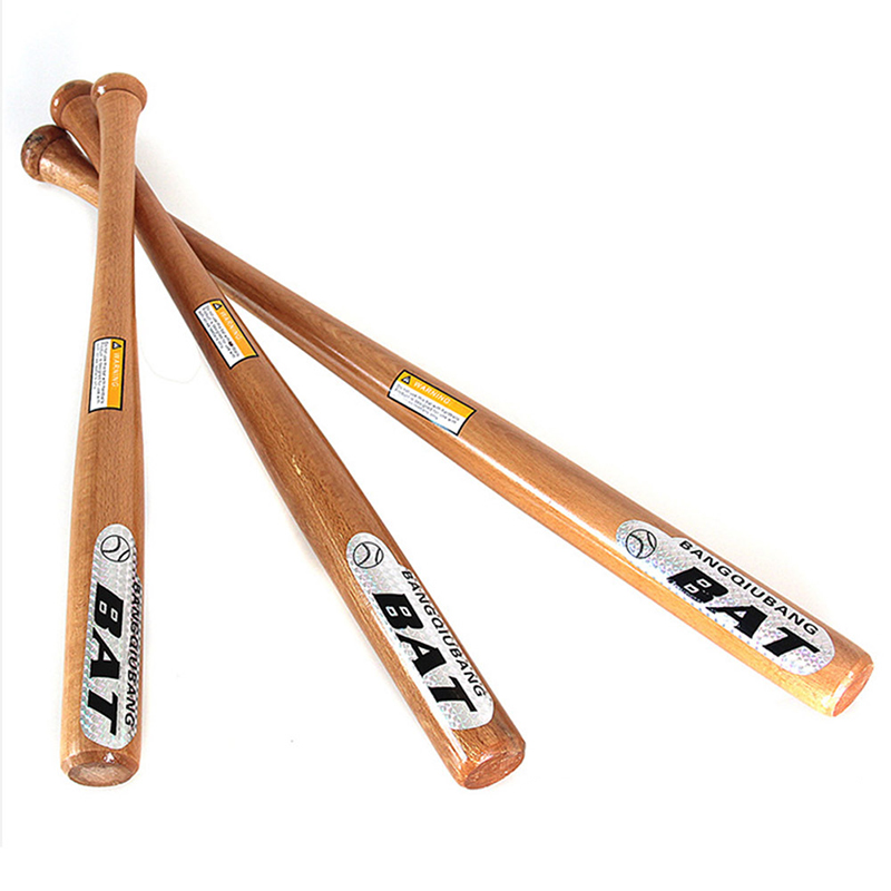 Good Quality Solid Wood Baseball Bat 54cm Comfortable Professional Hardwood Baseball Stick Outdoor Sports Fitness Equipment