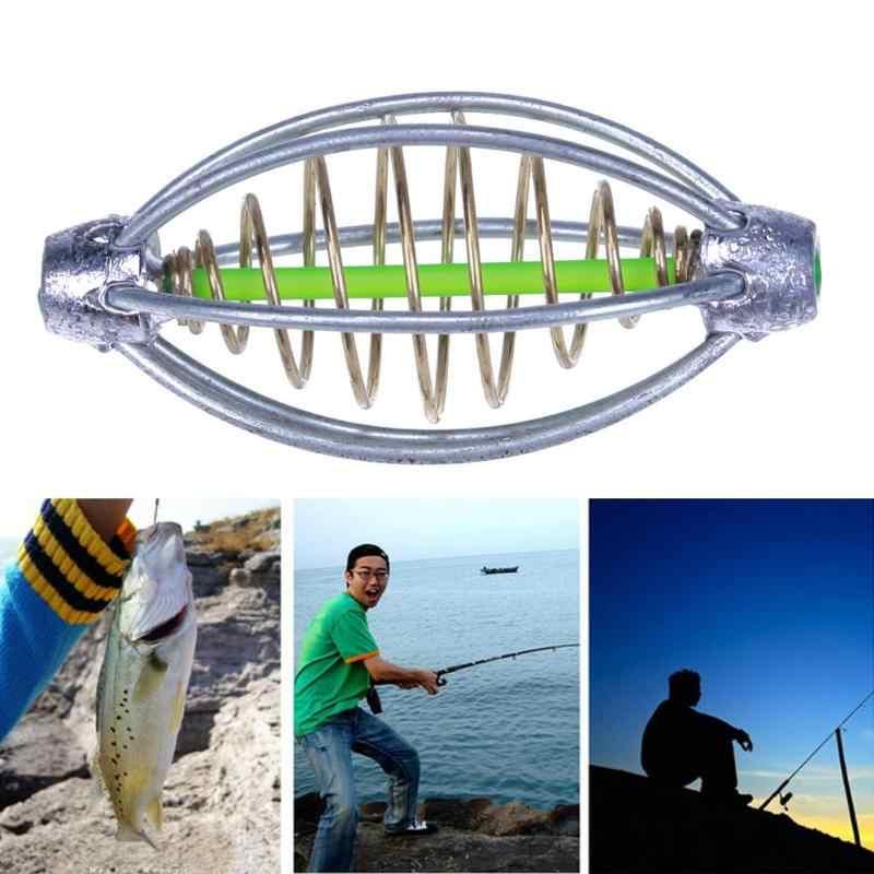 2 pz/lotto 5.5 centimetri Esche Da Pesca Gabbia di piombo zavorra Girevole Primavera + di Piombo Da Pesca Lanciatore Carp Per Carpa Pesca a Feeder affrontare Accessori