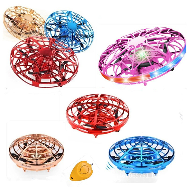 Mini Helicopter UFO RC Drone Infraed Hand Sensing Aircraft Electronic Model Quadcopter flayaball Small drohne Toys For Children 2