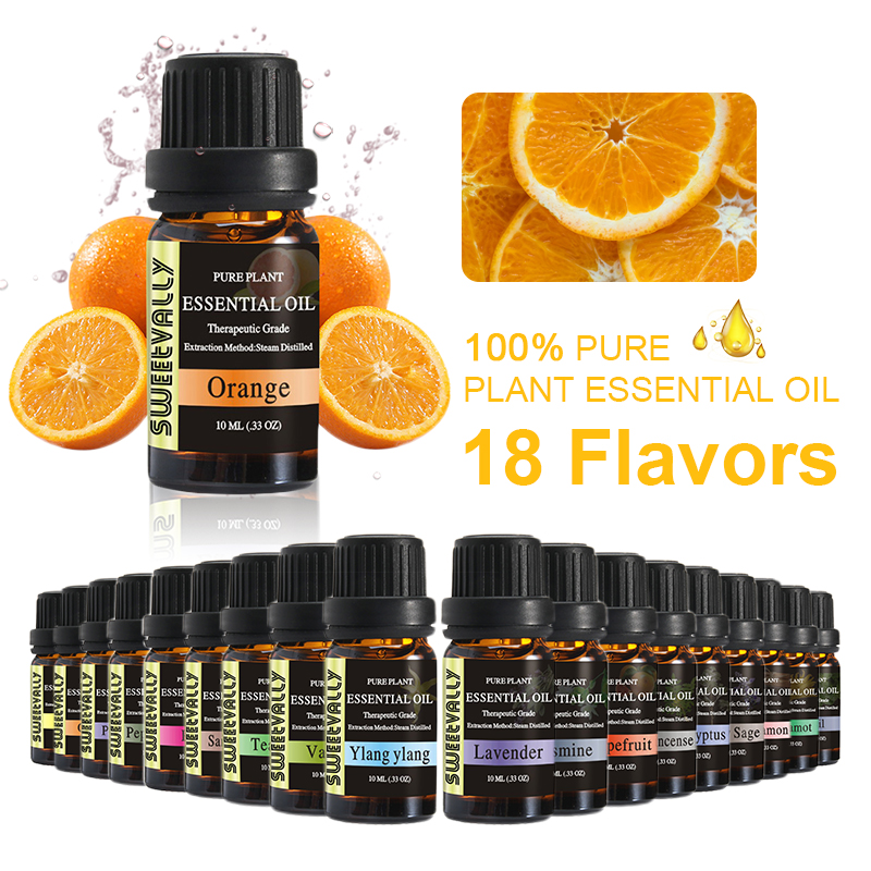Sweetvally Pure Plant Essential Oils For Aromatic Aromatherapy Diffusers Aroma Oil Tea Tree Oil Natural Home Air Care