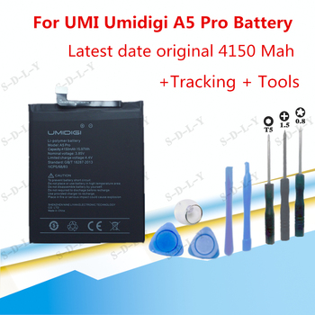 4150mAh Hight capacity For UMI Umidigi A5 Pro Battery Cell Phone Replacement High Quality Batteries Rechargeable+ Tools