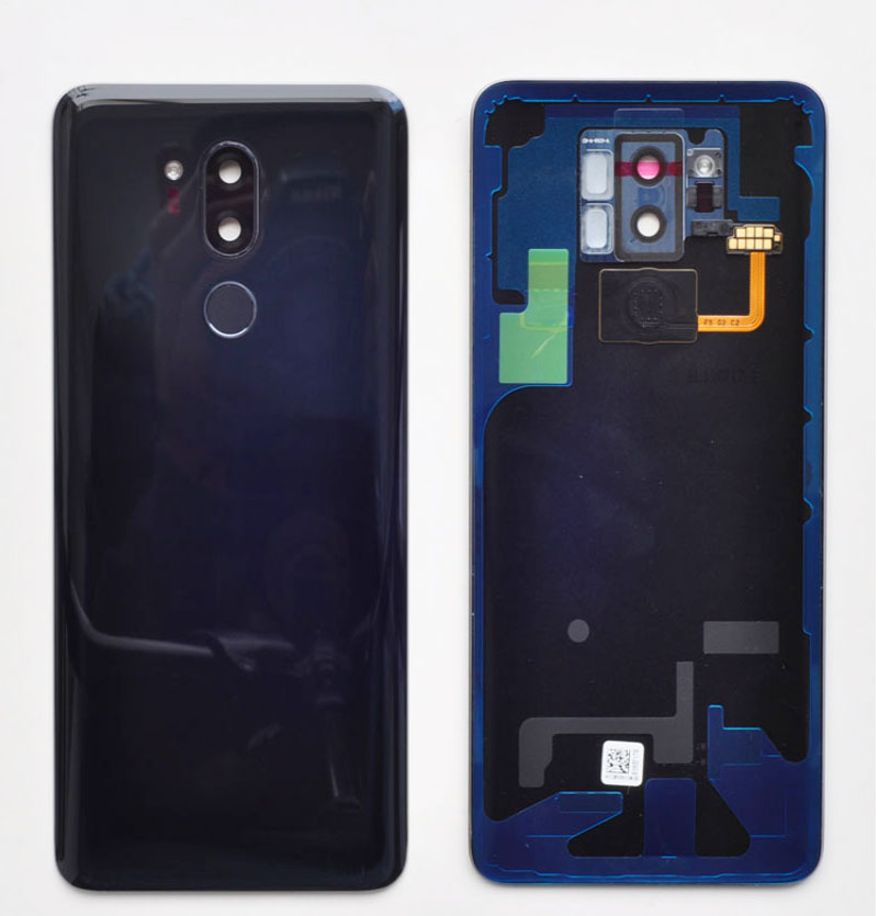 Original Spare Parts Tempered Glass Back Cover For lg g7 G 7 Back Battery Cover Door Housing + Camera frame|Mobile Phone Housings & Frames| |  - title=
