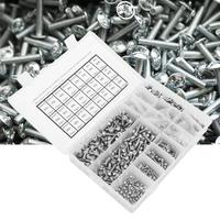 105pcs M3 M5 Stainless Steel Cylinder Hex Socket Screw Nut Washer Kit tapa tornillos