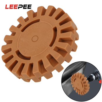 """LEEPEE 1/4 """"vástago goma rueda Reparación de coche herramienta de pintura 20mm rueda de pulido para Pegatinas de pegamento de coche y removedor de calcomanías"""