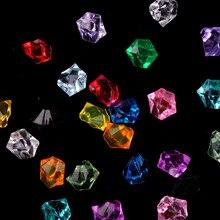 100 шт./лот (60 г) 11X14mm акрил с украшением в виде кристаллов льда рок камни ваза драгоценные камни для свадьбы Вечерние Декор конфетти стол посып...