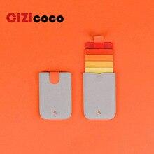 2020 New DAX V2 Mini Card Holder Slim Portable Paper Holder Pulled Design Men Wallet Color Slope 5 Cards Short Money women Purse