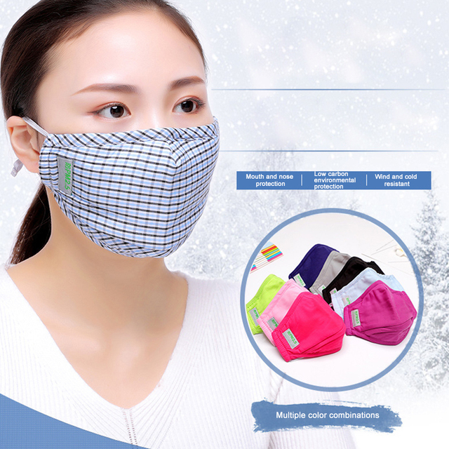 Cotton Masks Anti Pollution PM2.5 Mask Dust Reusable Mouth Mask With Filter Cloth Face Mask Cotton Washable Korean Fashion mask 5