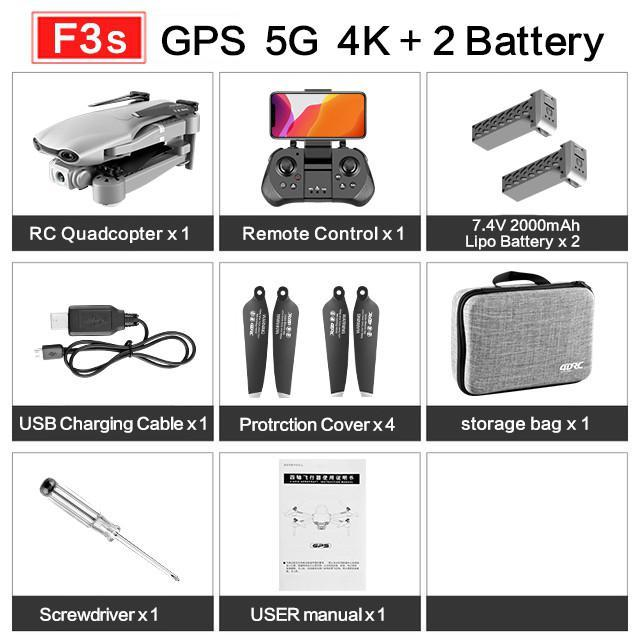 RCtown Drone GPS 4K 5G WiFi Live Video FPV with 4K 1080P HD Camera Wide Angle Camera Foldable Altitude Hold RC Drone X0704