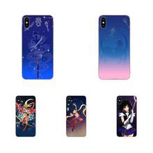 TPU Art Print For Galaxy J1 J2 J3 J330 J4 J5 J6 J7 J730 J8 2015 2016 2017 2018 mini Pro Hot Anime Sailor Moon Girl Lune Chat(China)
