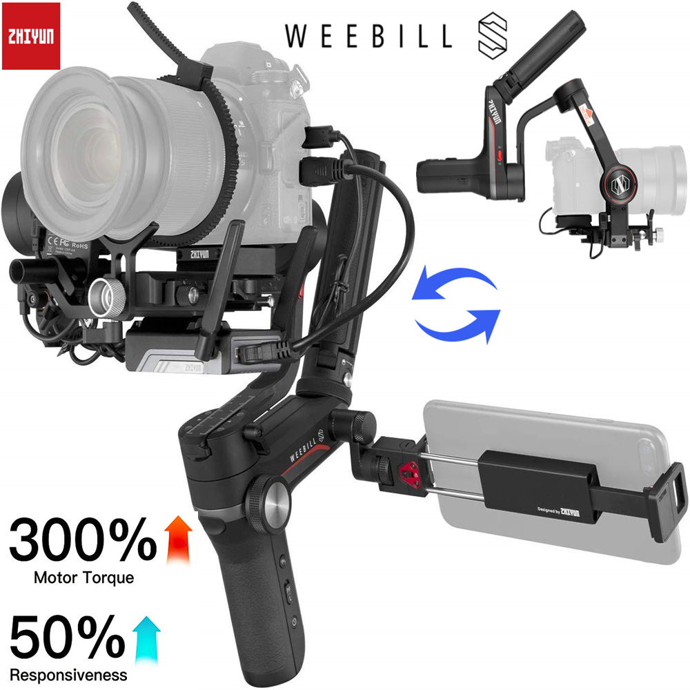 Zhiyun Weebill S 3-Axis Handheld Gimbal Stabilizer for DSLR & Mirrorless Camera Sony Nikon Z6 Panasonic S1 <font><b>GH5s</b></font> with 24-70mm GM image