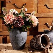 YO CHO falso peonía de seda Artificial Flores Vintage Artificial Flores 2 cabeza Versalles peonía boda casa cumpleaños decoración DIY