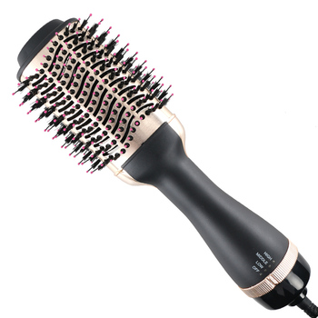 LISAPRO Dropshipping Black Golden Hair Dryer Brush Multifunctional Styling Tools Strightner And Curler Blowout - sale item Personal Care Appliances