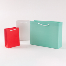10pcs/lot 15x20cm 12x16cm Solid Color Tthick Paper Bag DIY Multifunction Decoration Gift