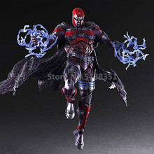 цены 26CM Marvel figures Magneto Play Arts X-Men Action Figure Max Eisenhardt PVC Collection Model Toy X Men figure toy for gift