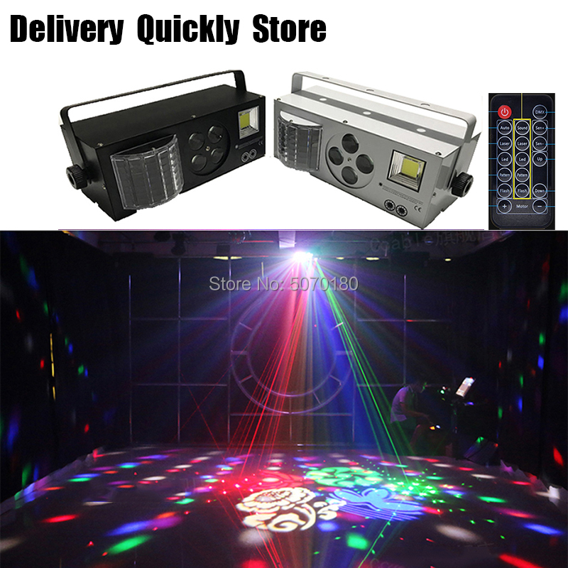 ShowTime Remote Control Dj LED 4 In 1 Gobo Laser Strobe Effect Color 4 Eyes Image Light Professional For Home Entertainment KTV