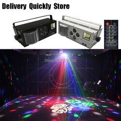 ShowTime controle Remoto Dj LEVOU 4 em 1 4 olhos imagem Gobo efeito de cor strobe a laser Profissional luz para Casa entretenimento KTV