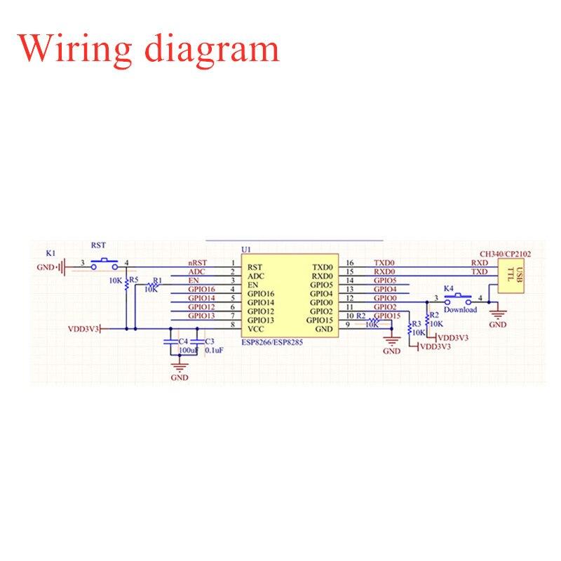 esp-12e Wiring diagram