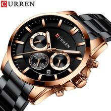 CURREN 2019 New Men Watches Luxury Quartz Fashion Mens Watch Waterproof Sports Wrist Chronograph Clock Relogio Masculino