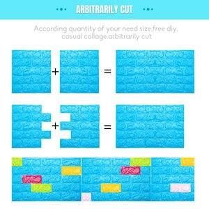 Image 4 - 3D Wall Stickers Imitation Brick Bedroom Decor Waterproof Self adhesive Wallpaper For Living Room Kitchen TV Backdrop Decor