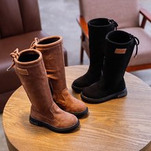 AFDSWG Girls boots mid boots High-top shoes Princess boots non-slip Martin boots,girls fashion boots,leather boots kids