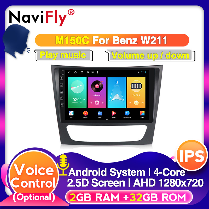 Android 10.0 DSP IPS 9inch screen Car RDS <font><b>GPS</b></font> For <font><b>Mercedes</b></font> Benz E-class <font><b>W211</b></font> E200 E220 E300 E350 E240 E270 E280 CLS CLASS W219 image