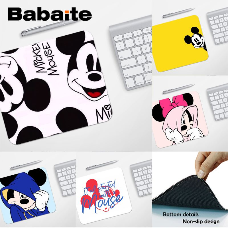 Babaite Top Quality Cartoon Mickey Minnie Laptop Gaming Mice Mousepad Top Selling Wholesale Gaming Pad Mouse
