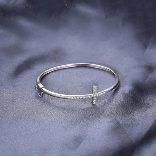 Cross Sterling Silver Bracelet