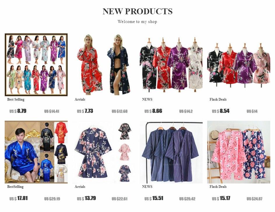 He00ed639a1f74fb087628d4025364279h Woman Loose Style Pajamas Home Sleep Wear Lace Up Peacock Print V-neck Night Gown Japanese Kimono Yukata Bathing Robe