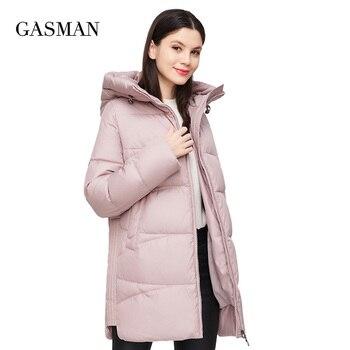 GASMAN 2020 Coat women plus size warm hooded parka Women's winter jacket fall outwear Female fashion brand puffer new jacket 011 1