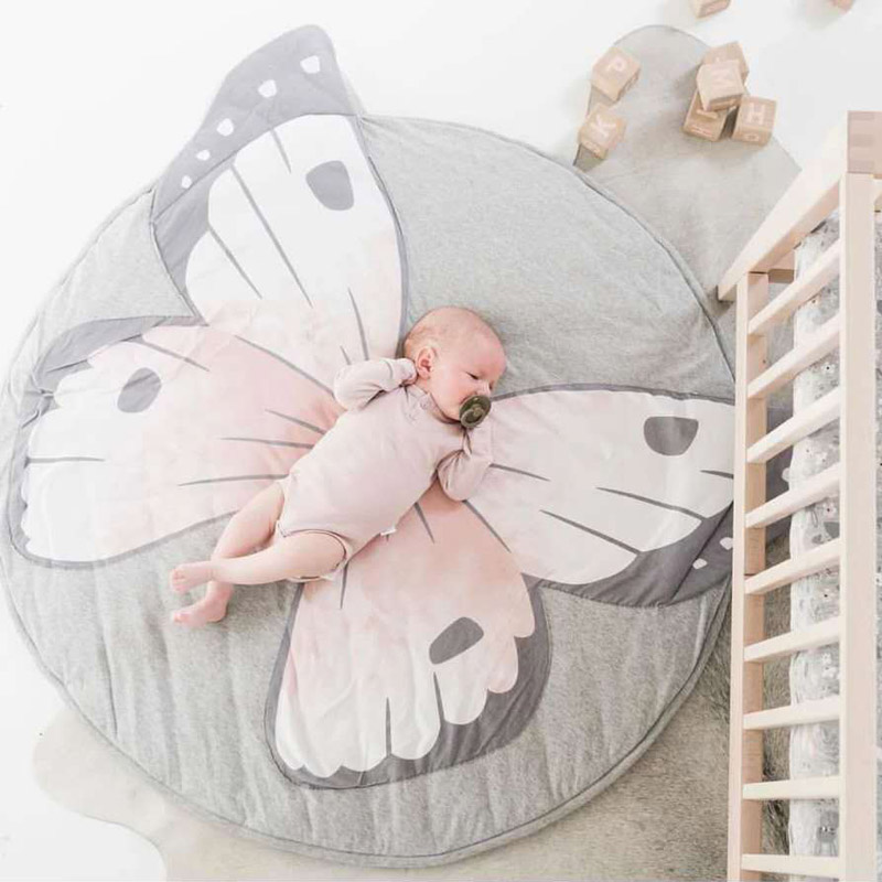 Cartoon Animals Baby Play Mats Pad Toddler Kids Crawling Blanket Round Carpet Rug Toys Mat For Children Room Decor Photo Props | Happy Baby Mama