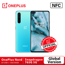 Versão global original oneplus nord 5g OnePlus Official Store snapdragon 765g smartphone 8gb 128gb 6.44 90 90 90hz amoled 48mp quad cams warp carga 30t
