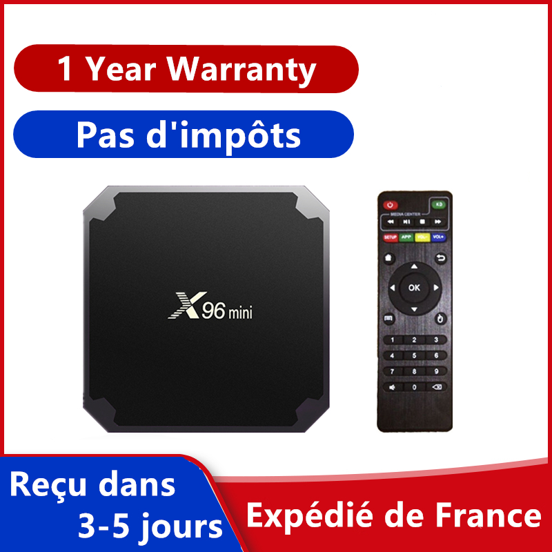 Best iptv box x96mini android 9.0 tv box 1G 8G 2G 16G smart tv media player x96 mini set top box ship from france